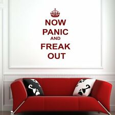 Now Panic And Freak Out Keep Calm Quotes Wall Stickers Home Decor Art Decals