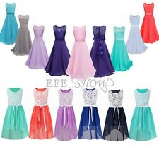 Flower Girl Dress Pageant Birthday Wedding Dance Party Gown Formal Dresses 4-14Y