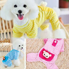 Small Cute Pet Dog Puppy Stripes Pajamas Jumpsuits Coat Clothes Apparel Clothing