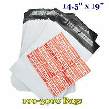 14.5x19 Poly Mailers Shipping Mailing Envelope Self Sealing Plastic Bags 2.5 Mil