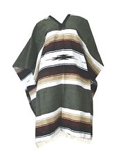 Woven Mexican Diamond Poncho Eastwood Western