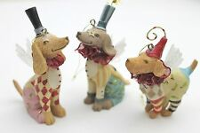 GISELA GRAHAM CHRISTMAS RESIN FANTASY CIRCUS DOG FAIRY DECORATION