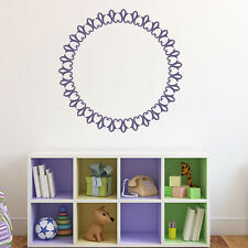 Decorative Circle Embellished Frame Wall Stickers Home Border Decor Art Decals