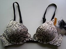 LILY of FRANCE 2131415 EXTREME OPTIONS PushUp Bra NWT 34A Animal