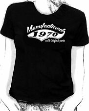 """Manufactured in 1970"" 100% original parts - Birthday humour Skinni fit  t-shirt"