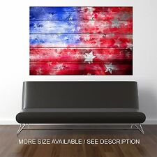 Wall Art Canvas Print Picture US Flag -Unframed