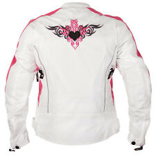 Xelement Women's Reflective Tribal Heart  Tri-Tex Armored Motorcycle Jacket