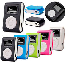Mini USB Clip MP3 Player LCD Screen Support 8GB/16GB/32GB Micro SD TF Card NEW