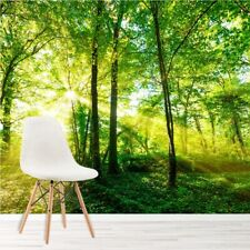 Green Trees Wall Mural Forest Nature Photo Wallpaper Living Room Bedroom Decor