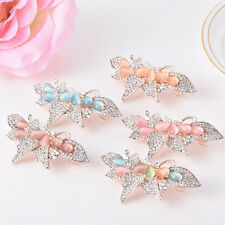 Vintage Women Girl Crystal Butterfly Bowknot Hairpins Hair Clip Hair Accessories