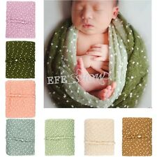 Newborn Mohair Crochet Baby Stretch Knit Wraps Photography Prop 7 Colors Option