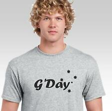 G'Day funny t shirt Aussie Australian greeting with Southern Cross Mens Womens