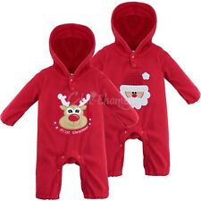 Infants Baby Boy Girls Christmas Santa Claus Reindeer Romper Dress Up Outfit Set