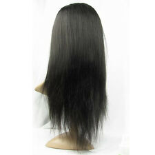 """Full Lace Hair Wig 100% Indian Remy Human Hair Wig #1 #1B Silky Straight 8""""-24"""""""
