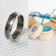 New Zealand - Shilling - Coin Ring - Hand Made!