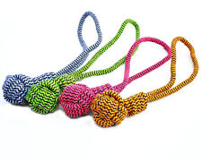 """Rope Chew Tug Toy for Dogs - Monkey Fist Knotted Ball -Closeout 16"""" Dog Tug Toy"""