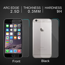 Genuine Front Back Tempered Glass Screen Protector For Apple iPhone 5s 6s 7 Plus