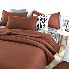 Brown Twin Queen King Bed Set Pillowcase Quilt Duvet Cover Zebra Ous