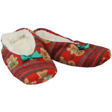 Cute Christmas Slippers Ballet Style Womens Warm House Shoes