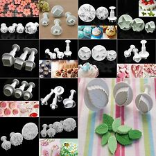Fondant Cake Cutter Plunger Cookie Mold Sugarcraft Flower Heart Decorating Mould