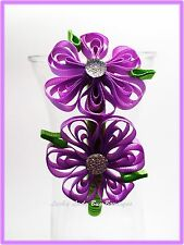 Spring Flower Sculpture attached to  Ribbon Wrapped Headband. Perfect for Easter