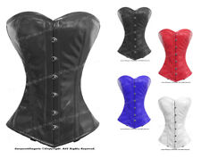 Full Steel Boned Heavy Lacing PVC Overbust Burlesque Shaper Corset #9975-PVC