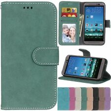 Flip Retro Leather Wallet Cards KickStand Magnetic Case Cover For HTC M8 M9 626S