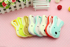 3D Cute Cartoon Silicone Soft Lovely Colorful Rabbit Cover Case for iPhone