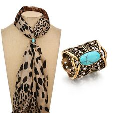 New Fashions Accessorie Bohemia Vintage Bronze Silver Plated Turquoises Brooch