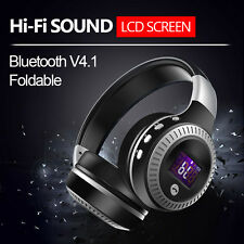 ZEALOT LCD HiFi Bass Stereo Bluetooth Headphone Wireless Headset With Microphone