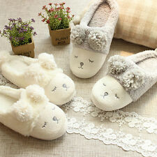Winter Women Men Short Plush Warm Sheep Animal Soft Indoor Home Slippers Shoes