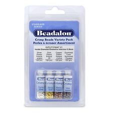 Beadalon Crimp Variety Pack 600pcs - Various Colours to choose from + FREE GIFT