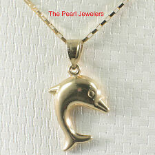 Beautiful Design Dolphin Handcrafted of 14k Solid Yellow Gold Pendant Charm TPJ