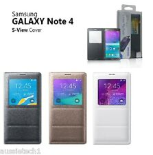 Original Samsung S View Window Flip Cover Folio Case For Samsung Galaxy Note 4,5