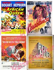 "Movie poster Images 1940's Bogart Gable Hepburn Leigh 4 Fridge Magnets 2""X3"""