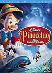 Pinocchio Disney (DVD, 2009, 2-Disc Set, 70th Anniversary Platinum Edition)