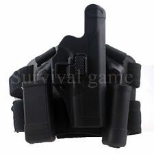 Tactical Level 2 Right Drop Leg Thigh Pistol Holster Mag Pouch f/ SIG SAUER P226