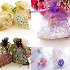25/50/100 Butterfly Organza Drawstring Pouch Jewelry Wedding Candy Bag Gift Wrap