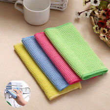 Soft Microfiber Kitchen Cleaning Cloth Scouring Window Washing Home Duster Towel