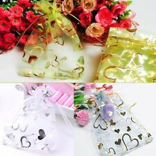 50/100 9cm*12cm Organza Wedding Party Favours Gift Candy Bags Jewelry Pouches