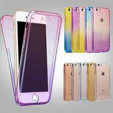 Shockproof 360° Silicone Protective Clear Case Cover For Apple iPhone 7 6s plus