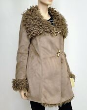 NWT $550 Michael Kors Faux Suede/Shearling Winter Jacket Coat Taupe/Beige