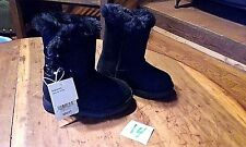 "GIRLS BLACK ""DANNIE"" CHEROKEE FAUX FUR LINED BOOTS NWT SIZE 5, 6, 7 TODDLER"