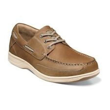 Florsheim Mens Brown CH Lakeside Ox Leather Casual Oxfords Comfort Wide Shoe