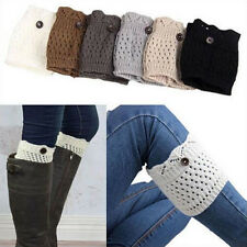 Girls Leg Warmers Boot Socks Women Cuff Crochet Knit Winter Toppers Knee Legging