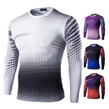 Top Quality Men's Round Neck Pullover Long Sleeve Base Layers T Shirt New