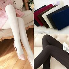 Winter Pantyhose Tights Womens Thick Knit Footed Warm Cotton Stockings Socks
