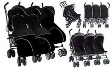 Triple pushchair stroller 3 babies triplets toddlers buggies Kids Kargo 0-3 yrs