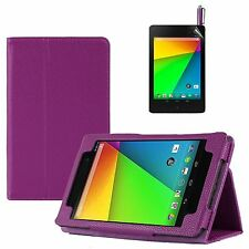 PU Leather Smart Folio Flip Stand Case For  Google Nexus 7 FHD 2 2nd Gen 2013