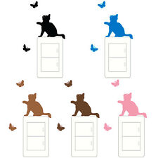 Funny Cat Art Vinyl Wall Sticker Home Wall Decals Switch Decor DIY For Bedroom